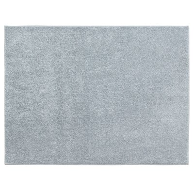 Atlas Solid Textured Accent Light Gray Area Rug Rug size: 33 x 43