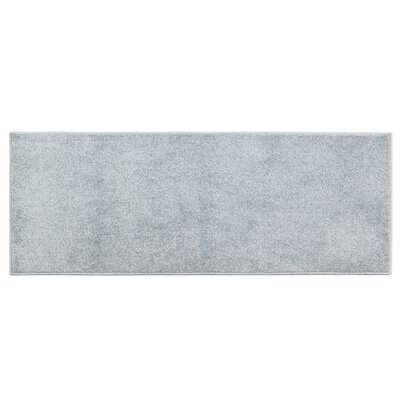 Atlas Solid Textured Accent Light Gray Area Rug Rug size: 17 x 46