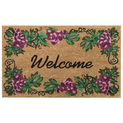 SuperScraper Grape Welcome Doormat