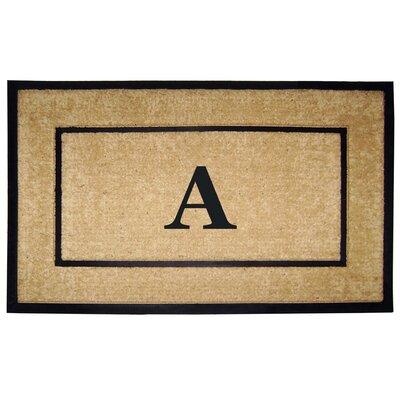 Frame Monogrammed Doormat Letter: A