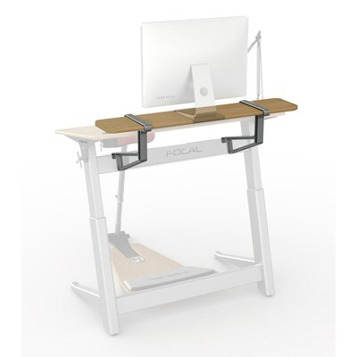 Locus 10 H x 48 W Desk Shelf Color: White Oak