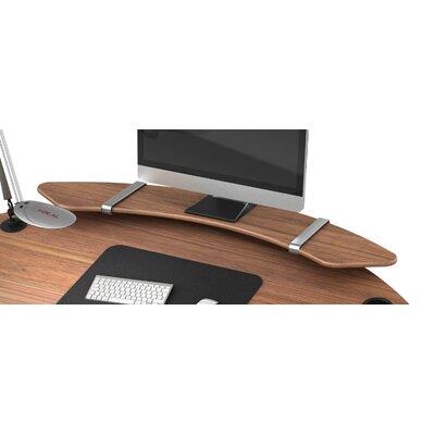 Sphere 10 H x 58 W Desk Shelf Finish: Black Walnut