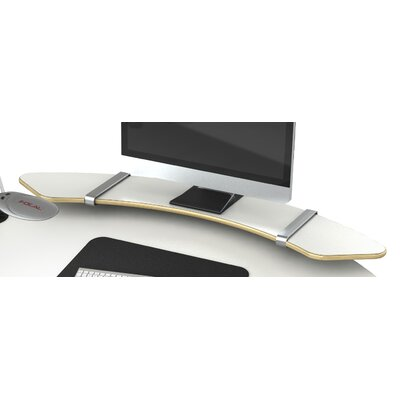 Sphere 10 H x 58 W Desk Shelf Finish: Glacier White