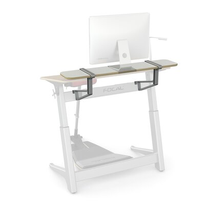 Locus 10 H x 48 W Desk Shelf Finish: Glacier White