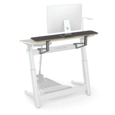 Locus 10 H x 48 W Desk Shelf Finish: Matte Black