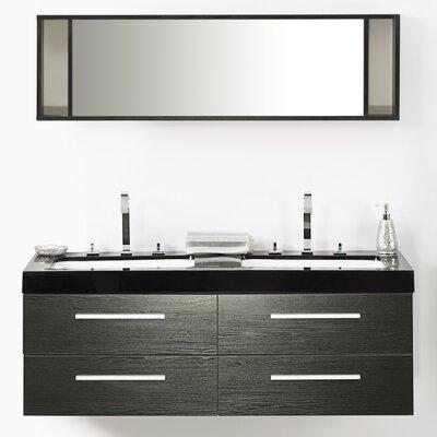 Amey 55 Double Bathroom Vanity Set with Mirror