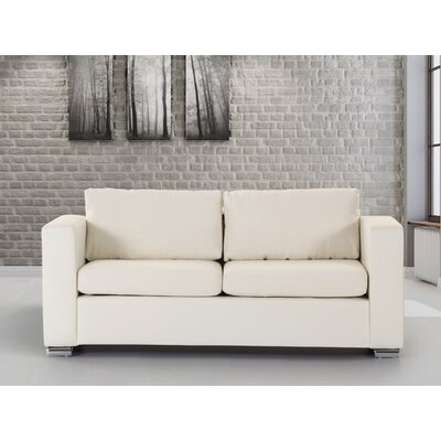 Jordon Leather Sofa Upholstery: Beige