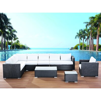 XXL Sectional 7 Piece Lounge Seating Group with Cushions Fabric: Off-White