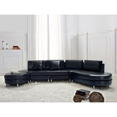 Copenhagen Sectional Upholstery: Black