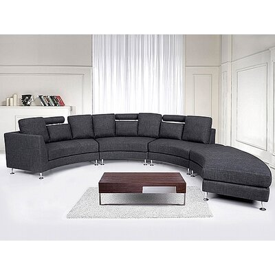 Rotunde Circular Sectional Upholstery: Grey