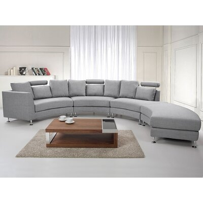 Rotunde Circular Sectional Upholstery: Light Grey