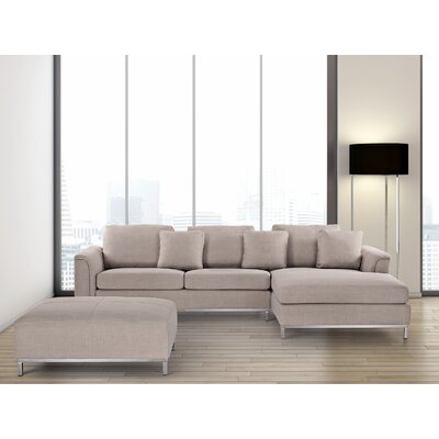 Tachani Corner Sectional Upholstery: Beige, Orientation: Right Hand Facing