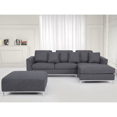 Tachani Corner Sectional Upholstery: Dark Gray, Orientation: Right Hand Facing