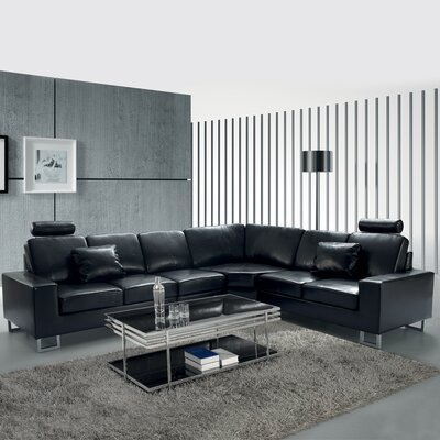 Stockholm Sectional Upholstery: Black