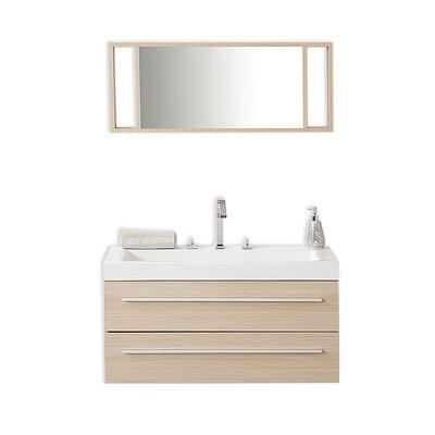 40 Single Barcelona Beige Bathroom Vanity Set with Mirror