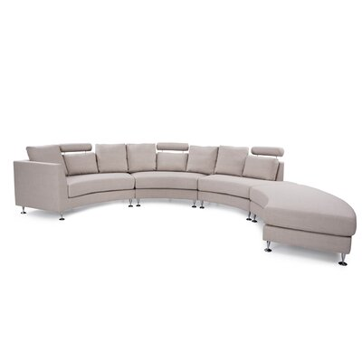 Hiep Round Modular Sectional Upholstery: Beige