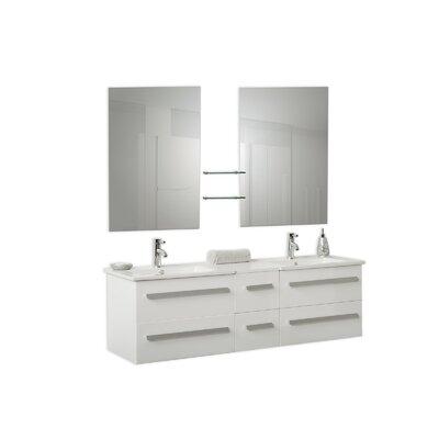 Madrid 59 Double Bathroom Vanity Set with Mirror