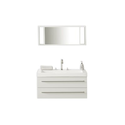 Barcelona 39 Single Bathroom Vanity Set with Mirror