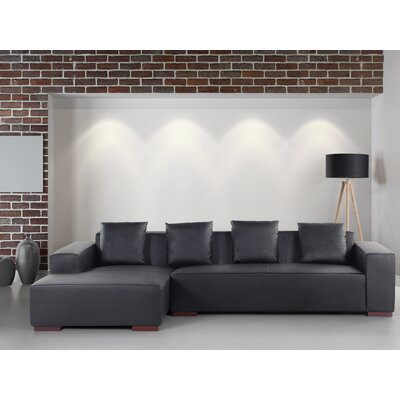 Tamika Leather Sectional Orientation: Right