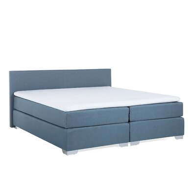 Gaskill Upholstered Box Spring Bed with Mattress Size: King, Color: Light Gray