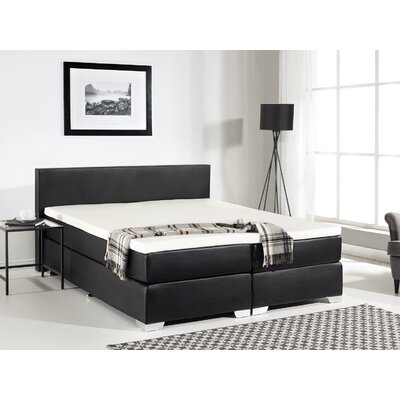 Gaskill Contemporary Upholstered Box Spring Bed with Mattress Size: King, Color: Black