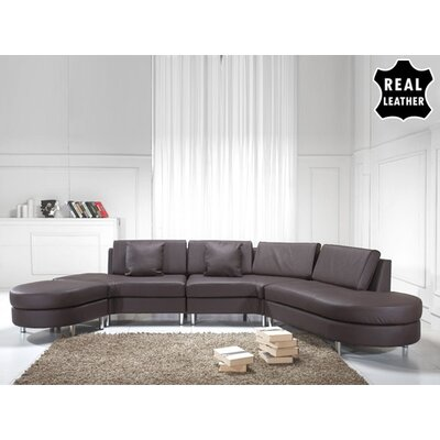 Beliani Copenhagen Leather Stationary Sectional - Color: Brown at Sears.com
