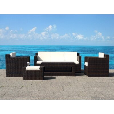 Beliani Roma 5 Piece Deep Seating Group with Cushion at Sears.com