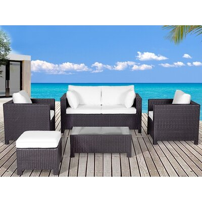 Beliani Milano 5 Piece Deep Seating Group with Cushion at Sears.com