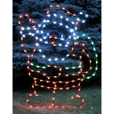 Waving Santa Claus LED Light Christmas Decoration