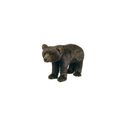 Bear Ottoman Upholstery: Brown