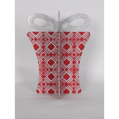 "13.5"" 3D Gift Box Set Color: Red/Silver"