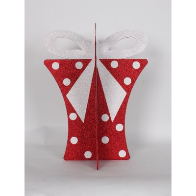 "20"" 3D Gift Box Set Color: Red/White"