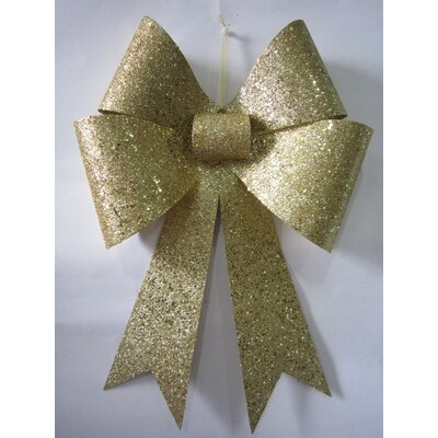 """Glitter Bow Size: 18"""", Color: Gold"""