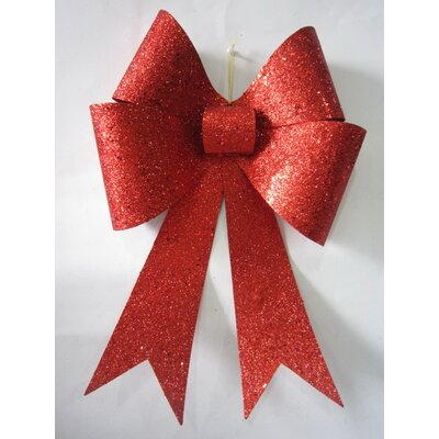 """Glitter Bow Size: 18"""", Color: Red"""