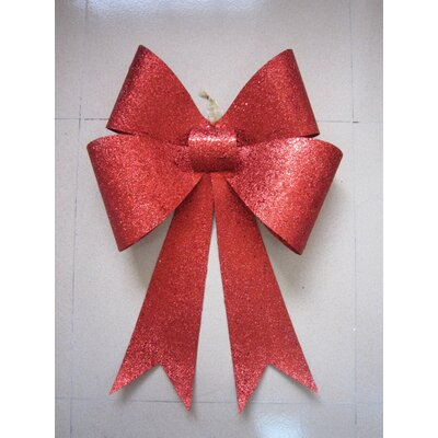 Glitter Bow Color: Red, Size: 24