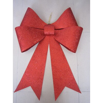 Glitter Bow Color: Red, Size: 30