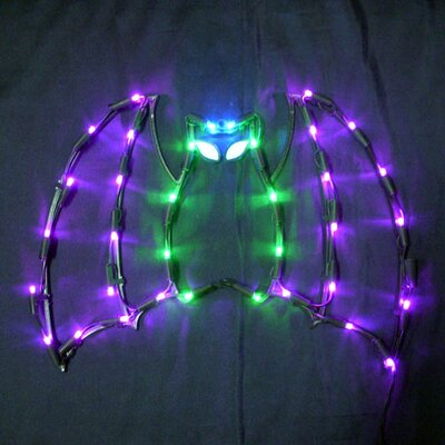"18"" Halloween Bat with 35 Multicolored Lights"