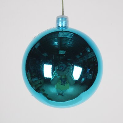 Ball Ornament (Set of 3) Color: Aqua, Size: 70 mm