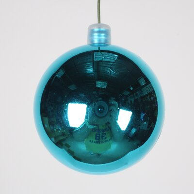 Ball Ornament (Set of 3) Size: 60 mm, Color: Aqua