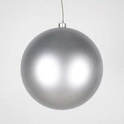 Queens of Christmas Ball Ornament - Color: Silver, Size: 200 mm (Set of 2)