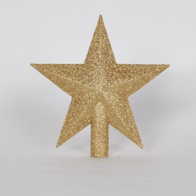 "9"" Tree Topper Star Color: Gold"