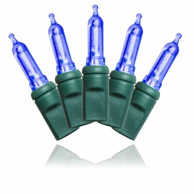 """Green Wire 4"""" Spacing Lights Color: Blue"""