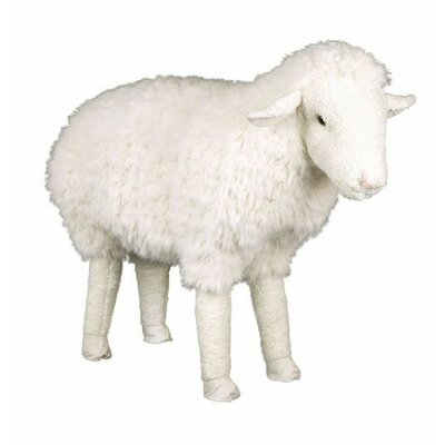 Hampshire Ottoman Fabric: Lincoln Sheep