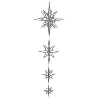 """84"""" 3D Star Dangle Ornament Color: Silver"""