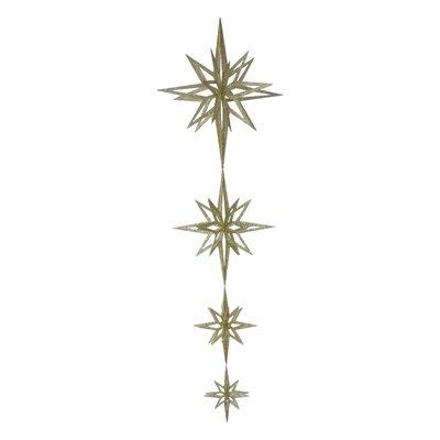 "84"" 3D Star Dangle Ornament Color: Gold"