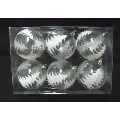 Clear Ball Ornament with Silver Glitter Tree