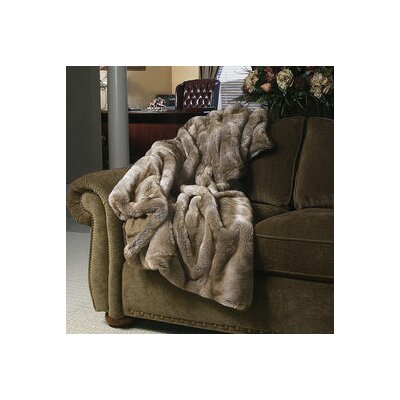 Grey Mist Throw Color: Toffee Chinchilla