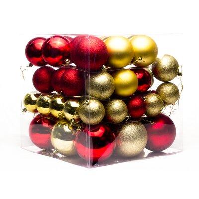 62 Piece Ball Ornament Set Color: Red/Gold THDA4861 42672926