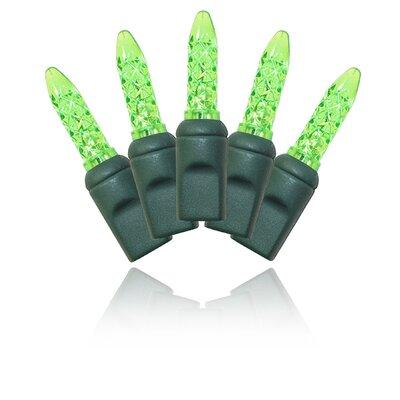 70 Light LED String Light Bulb Color: Green