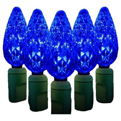 70 Light LED String Light Bulb Color: Blue